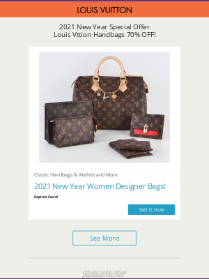 Poppin - 2021 New Year Best Deals! Louis Vuitton Handbag 80% OFF Only Today!