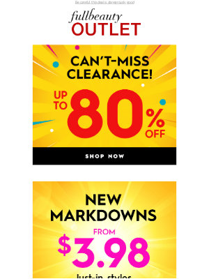Full Beauty - Don't Forget This! Up To 80% OFF Clearance!