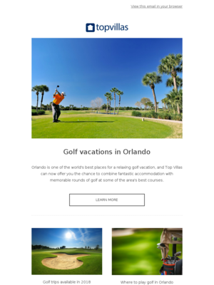 - Orlando golf vacations for 2018!