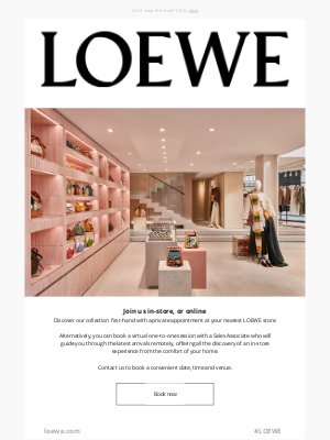 Loewe - Book an appointment