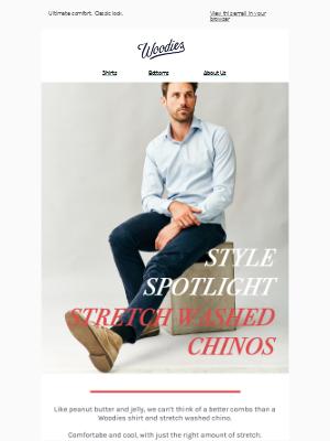 Spotlight: Stretch Washed Chinos