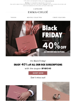 Emma & Chloé US - BLACK FRIDAY DEALS ARE HERE!