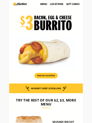 Meet our newest $2, $3, More Menu addition