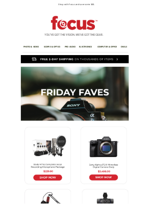 Focus Camera - Low Prices on All Your Favorites