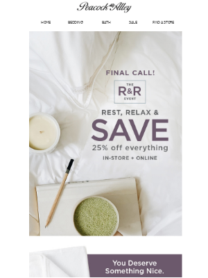 peacockalley - This. Is. It. 25% Off Is ENDING
