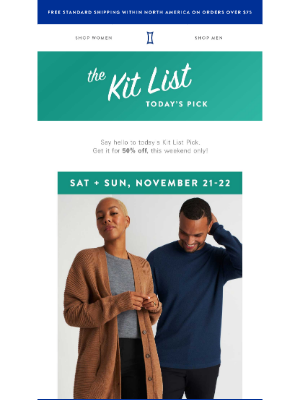 Kit and Ace - Introducing this weekend's Kit List Picks