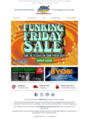 Funking Friday Sale 🌟 Get Your Groove On, Up to $200 Off!