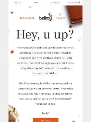 Bellroy - Question!