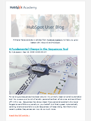 HubSpot - Hey there - Here are the today's articles to help you grow better with inbound and HubSpot.