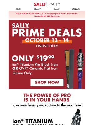 Sally Beauty - Last Day! $19.99 Select Hair Tools - Online Only