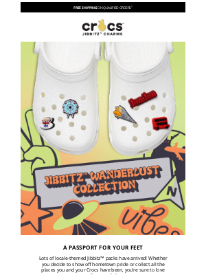 Crocs - Wanderlust Jibbitz™ packs have arrived!