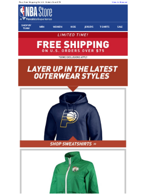 Los Angeles Lakers - Embrace the Fall w/ NBA Outwear & Free Shipping!