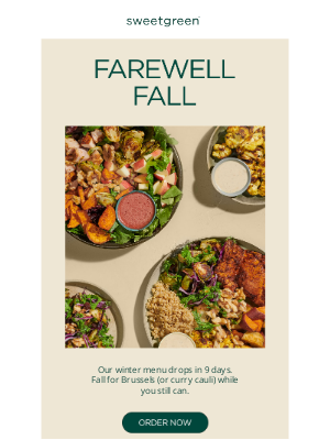 sweetgreen - a fall farewell