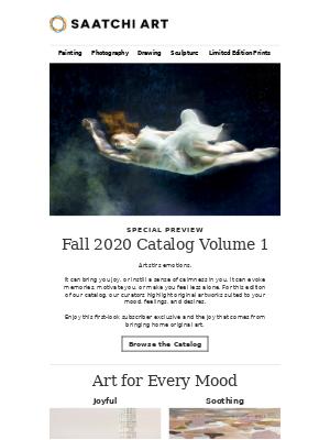 Saatchi Art - Subscriber Exclusive: Fall Catalog Vol. 1