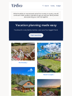 VRBO - 8 popular trips for the whole family