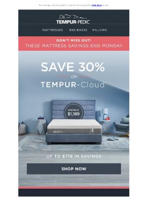 Tempur-Pedic - Shop mattresses starting at $1,189—Ends Monday