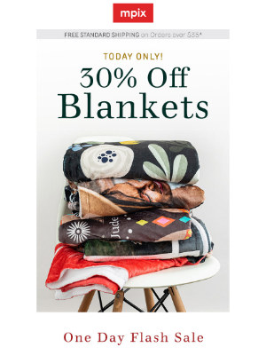 Mpix - Today Only: 30% off Cozy Blankets