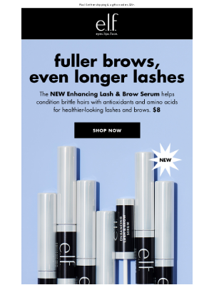 e.l.f. Cosmetics - Want fuller brows and longer lashes? We got you 😉