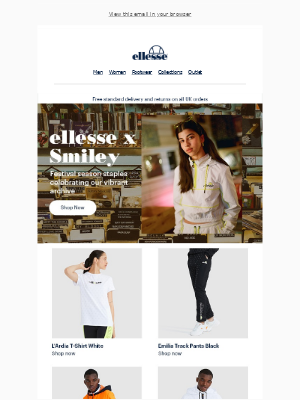 ellesse - The ellesse X Smiley collection