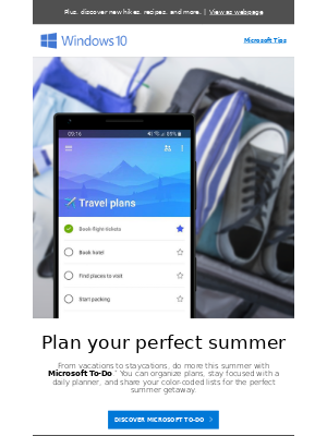 Plan your next trip with To-Do and OneNote
