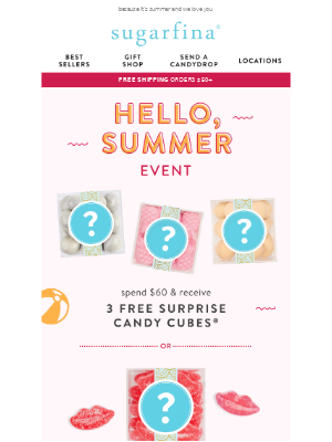 ☀️Email Exclusive! Say hello to a sweet surprise gift