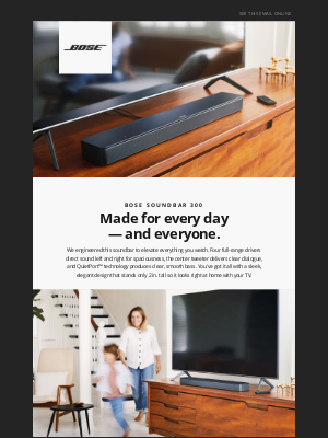 Bose - Smart Soundbar 300 | Spacious sound & deep bass