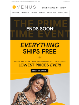 VENUS Fashion - The Prime Time Event ENDS SOON!