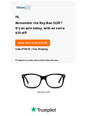 GlassesUSA - We have good news! The one you liked is on sale 🙏