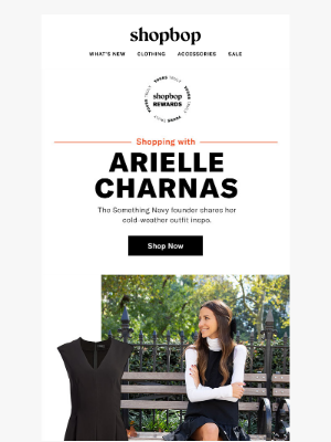 Your Reward · Something Navy's Arielle Charnas shares her fall picks