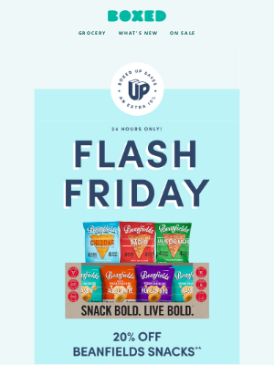 Boxed - ⚡ TODAY ONLY! Save 20% on Beanfields snacks! + New coupons, deals, and more just for you!