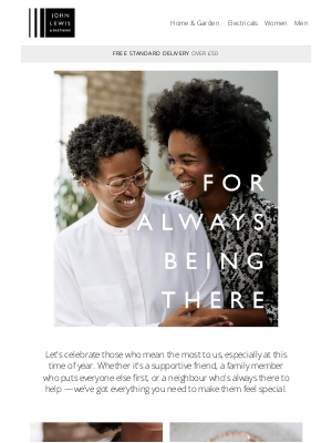 John Lewis (UK) - Find the perfect gift to show them how much you care