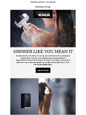 Kohler Co. - Step Into Shower Bliss