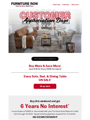 Furniture Row - You're invited: Customer Appreciation Event