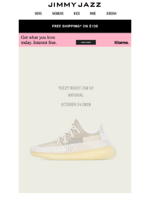 """Jimmy Jazz - Available Now – Yeezy Boost 350 V2 """"Natural"""""""