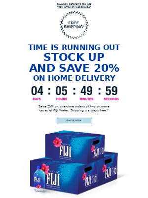 FIJI Water - Don't miss out: 20% off