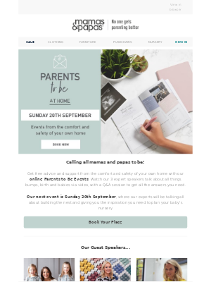 Mamas & Papas (UK) - Book Now | Free Online Parents To Be Event!