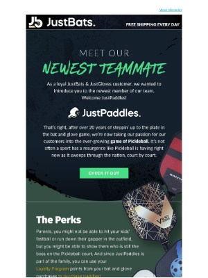 JustBats - Meet the Newest Member of the Team!