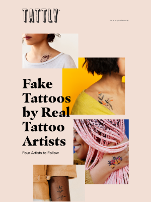 Tattly - Fake Tattoos by Real Tattoo Artists ✨
