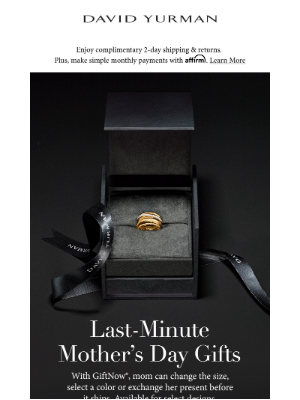 David Yurman - Waited 'til the Last Minute for Mother's Day Gifts?