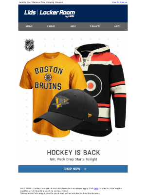 LIDS - The Wait is Over -  NHL Hockey Has RETURNED