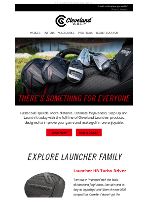 Roger Cleveland Golf Company Inc - Step Up and Launch It   Cleveland Launcher Family