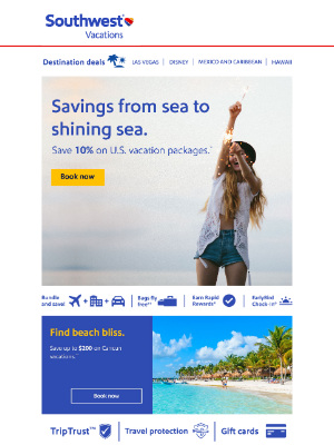 Southwest Vacations - Savings that shine from sea to sea