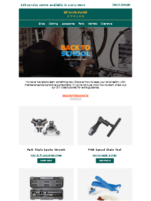 Evans Cycles (UK) - Back to school | Learn something new