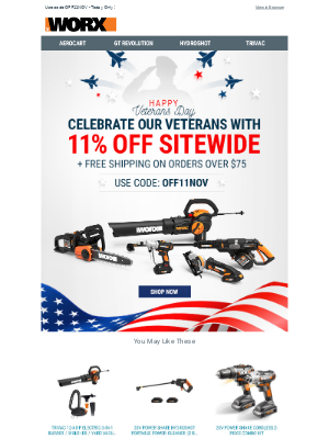 Take 11% off + Free Shipping - Today Only