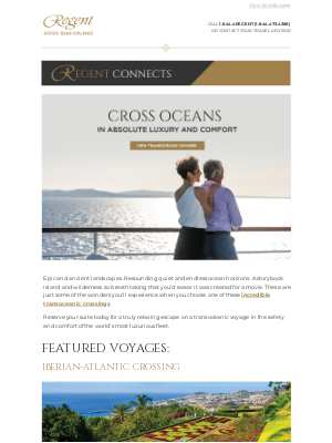 Regent Seven Seas Cruises - Sail the Atlantic Aboard the World's Most Luxurious Ships