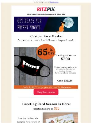 RitzPix - Last Day to Order Halloween Masks! 🎃