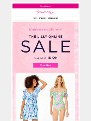 Lilly Pulitzer - The online sale starts NOW