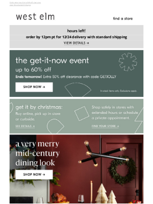 West Elm - *FINAL HOURS to get gifts in time* Order TODAY by 12pm PT!