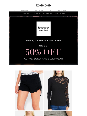 bebe - The Outlet Event - Up to 50% Off