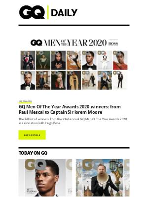 British GQ - GQ Men Of The Year Awards 2020: the winners